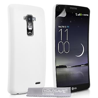 Yousave tilbehør LG G Flex hårdt Hybrid sag - hvid