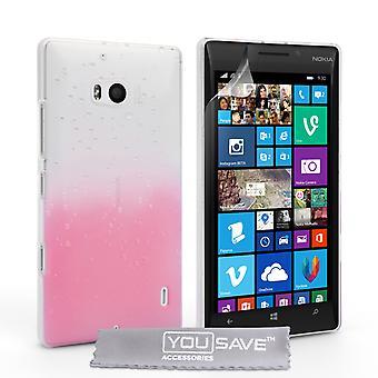 Nokia Lumia 930 regndroppe Hard Case - Baby Rosa-Clear