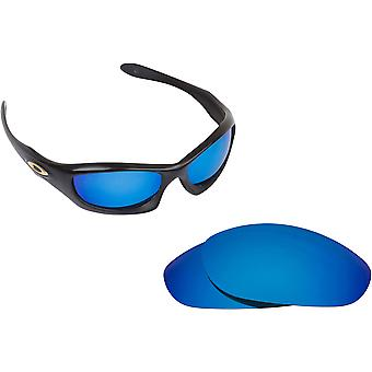Monster Dog Replacement Lenses Black & Blue Mirror by SEEK fits OAKLEY