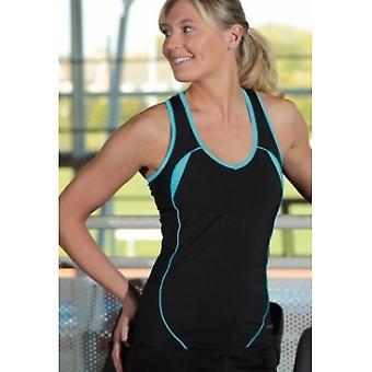 PRECISION ladies running vest [black/turquoise]