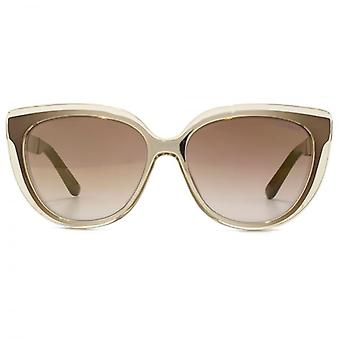Jimmy Choo Cindy Cateye Sunglasses In Honey Brown Gold