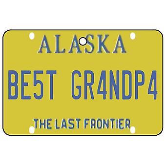 Alaska - Best Grandpa License Plate Car Air Freshener