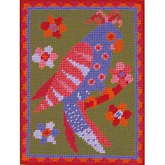 Poppy's Parrot Needlepoint Canvas