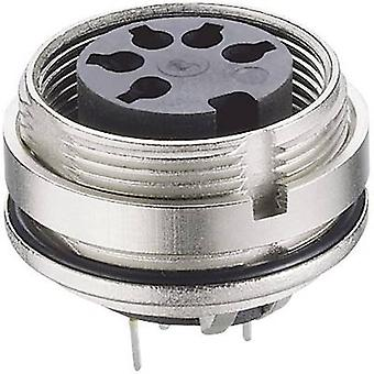 DIN connector Socket, vertical vertical Number of pins: 5 Silver Lumberg 0307 05-1 1 pc(s)