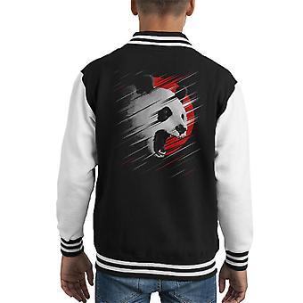 Panda Circle Lines Kid's Varsity Jacket