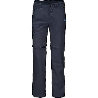Jack Wolfskin Kids Safari Zip Off Pants - Night Blue