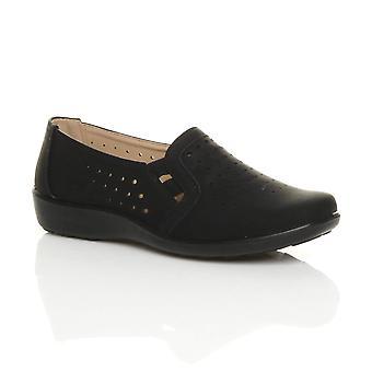Sapatos de conforto Ajvani womens plana aperto exclusivo acolchoado estendem sapatos de trabalho amortecido