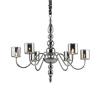 Ideal Lux Duca Modern 6 Arm Light Hanging Ceiling Pendant