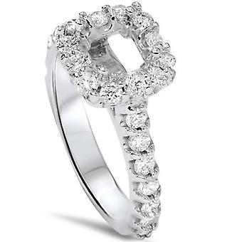 1 / 2ct Princess Cut Engagement Diamond Ring instelling 14K White Gold