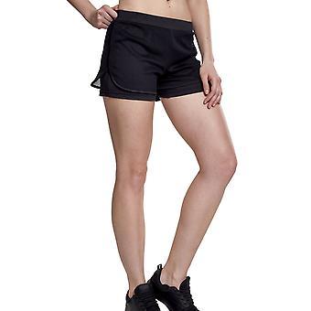 Urban classics ladies - double layer mesh sports of shorts