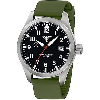 KHS watches mens watch Airleader steel KHS. AIRS. SO