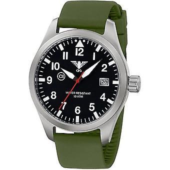 KHS relojes para hombre reloj Airleader acero KHS. VENTILA. POR LO TANTO
