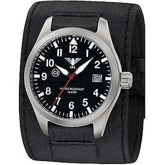 KHS horloges mens watch Airleader staal KHS. VOOR HET EERST UITGEZONDEN. LK