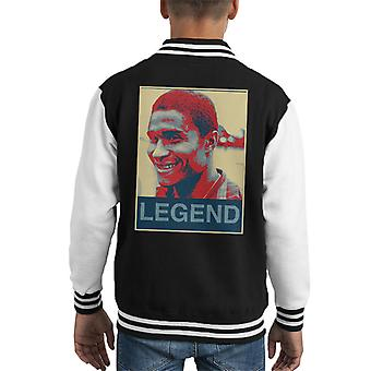 Portugal Eusebio Black Panther 1966 Football Legend Poster Style Kid's Varsity Jacket