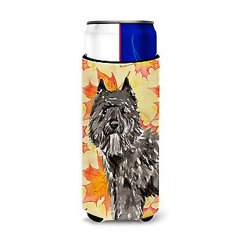 Fall Leaves Bouvier des Flandres Michelob Ultra Hugger for slim cans