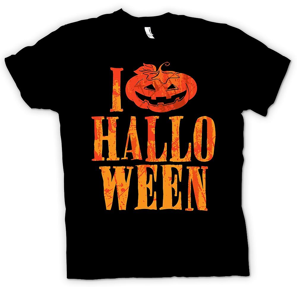 Mens T-shirt - I Love Halloween