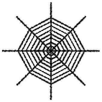 Гигантские мерцающие паутина - черный