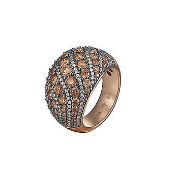 Joop Damen Ring Silber Rosé Zirkonia EXTREME PAVÈE JPRG90763C