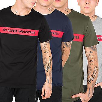 Alpha industries men's T-Shirt red stripe T