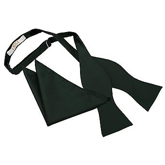 Dark Green Solid Check Self-Tie Bow Tie & Pocket Square Set