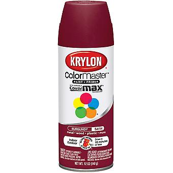 Colormaster Indoor/Outdoor Aerosol Paint 12Oz-Burgandy Satin