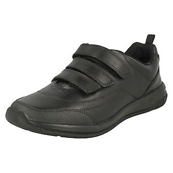 Boys Clarks Hook and Loop Fastening School Shoes Hula Thrill