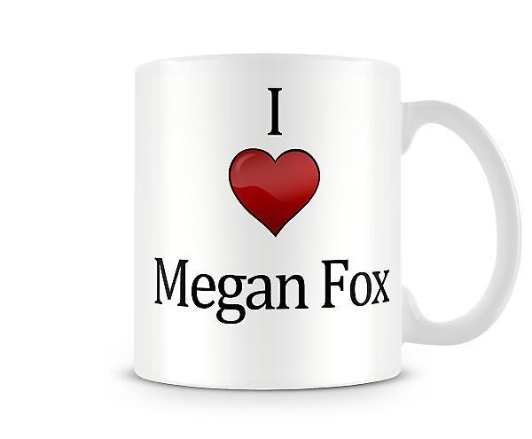 Me encanta Megan Fox taza impresa
