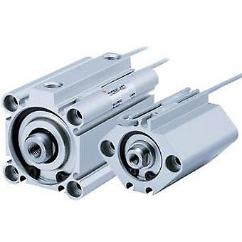 SMC Compact Cylinder, Double Acting, Non Magnetic, 20Mm Bore, 15Mm Stroke