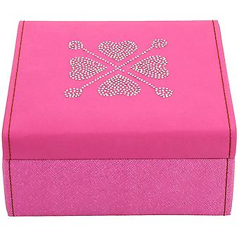 Friedrich leather jewelry case jewelry box BACCARAT pink