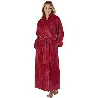 Slenderella HC2333 Waffle flanella Robe Loungewear vasca Vestaglia donna