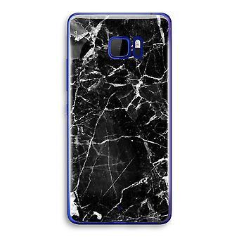 HTC U Ultra Transparent Case (Soft) - Black Marble 2