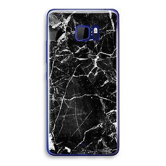 HTC U Ultra Transparent fodral (Soft) - marmor svart 2