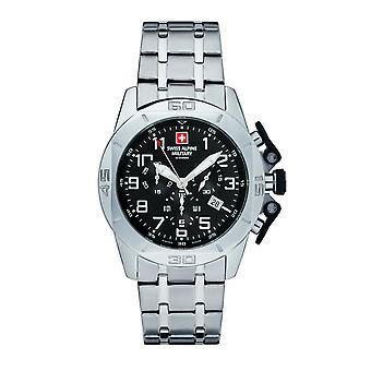 Swiss Alpine militaire mannen horloge Chrono 7063.9137SAM roestvrij staal