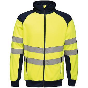 Regatta Mens Hi Vis Pro Full Zip Workwear Fleece Jacket
