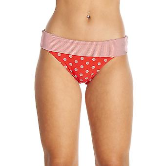 Camille White Polka Dot High Leg Red Bikini Bottoms