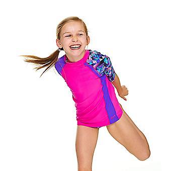 Mittelerweile Mädchen Kurzarm UPF 50 + Sun Top Pink