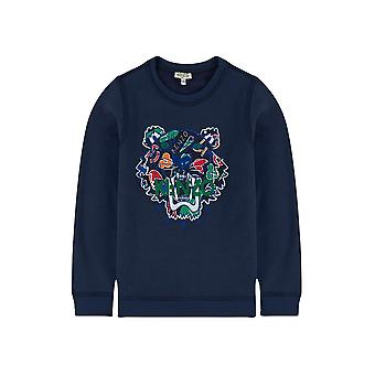 Kenzo Kids Kenzo Kids Navy Blue Tiger 43 Sweatshirt