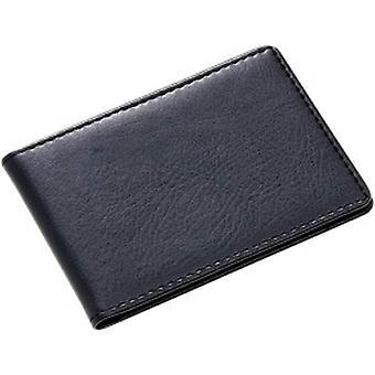 David Van Hagen couro dobrável 8 carteira de cartão - preto