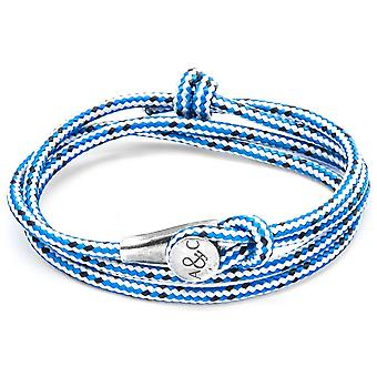 Kotwica i załogi Dundee srebrny i liny bransoletka - niebieska kreska