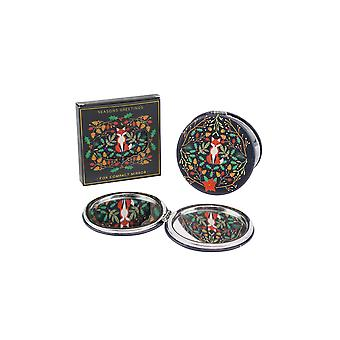 Seasons Greetings Fox Compact Mirror