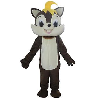 SPOTSOUND of Brown and white, soft and furry squirrel mascot