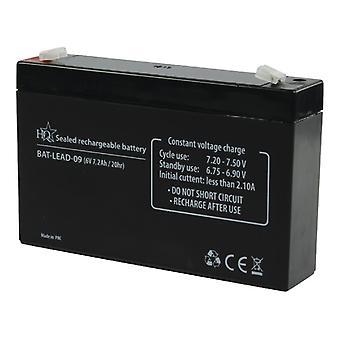 HQ Bat 09 / Blei / Blei-Säure Batterie 6 V 7,2 Ah