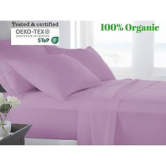 100% Egyptian Cotton Bed Sheet Set (500tc)-pink