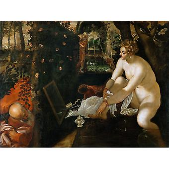Susanna and the Elders,Tintoretto,50x40cm