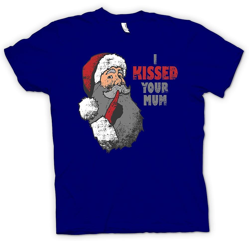 Camiseta para hombre - besé su madre - Santa divertida
