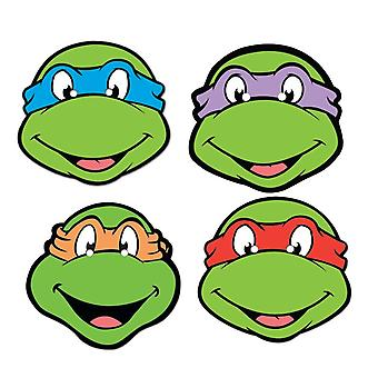 Teenage Mutant Ninja Turtles Card Face Mask Set of 4