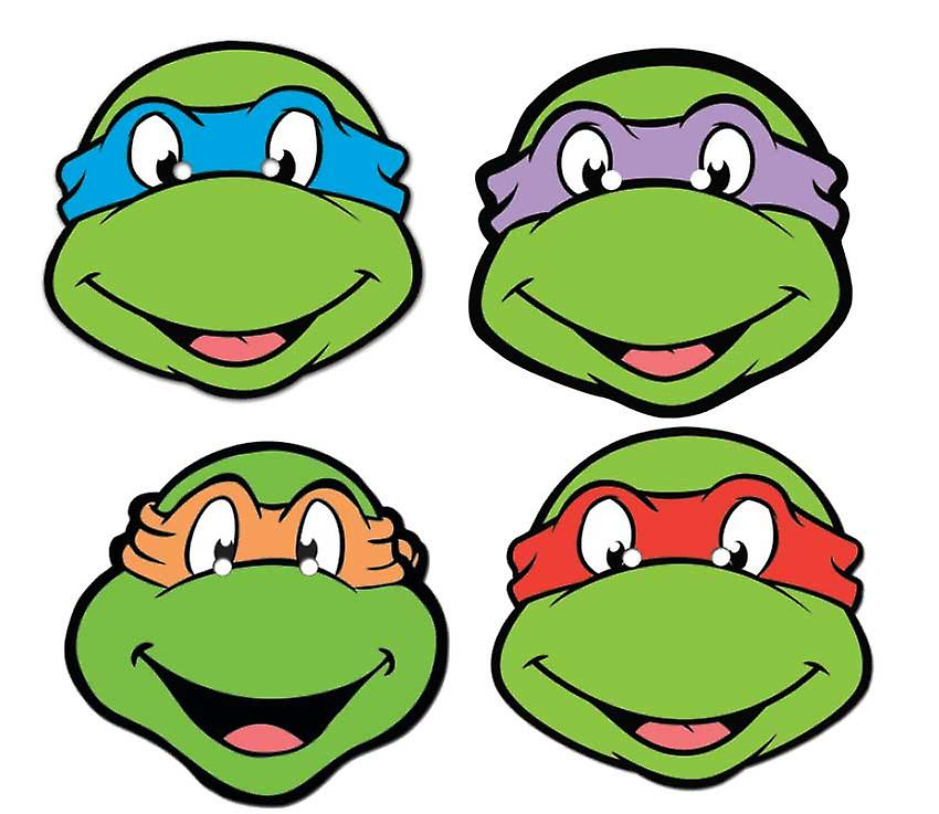 Teenage Mutant Ninja Turtles Card Face Mask Set van 4