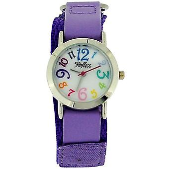 Reflex Kids Analogue Purple Easy Fasten Fabric Strap Watch KID-0073