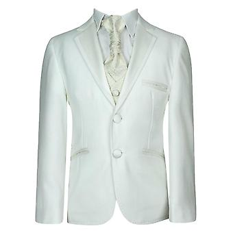 Boys Off White & Ivory  Complete Set Suit