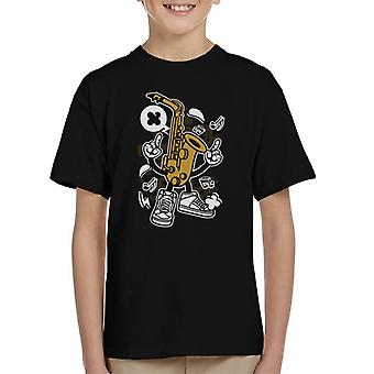Saxofon mand børne T-Shirt